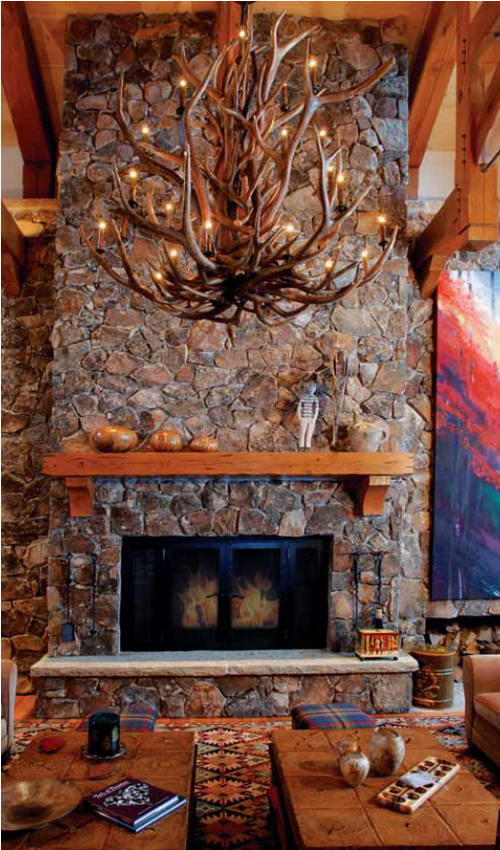 Stone Lodge Fireplace